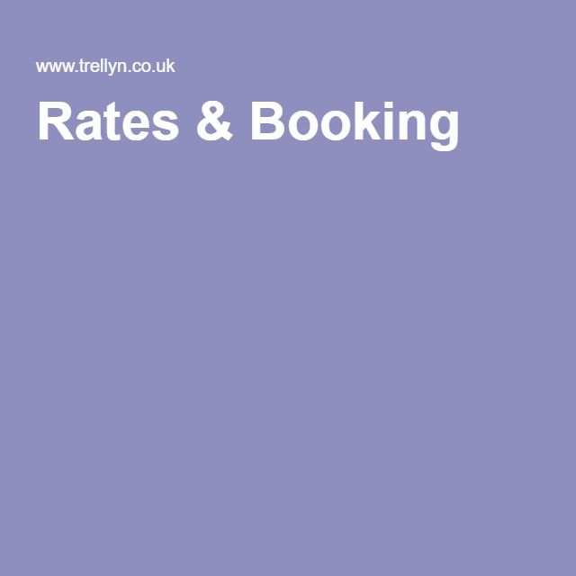 Rates & Booking