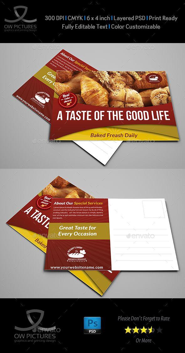 Best Postcard Design Template Images On   Postcard