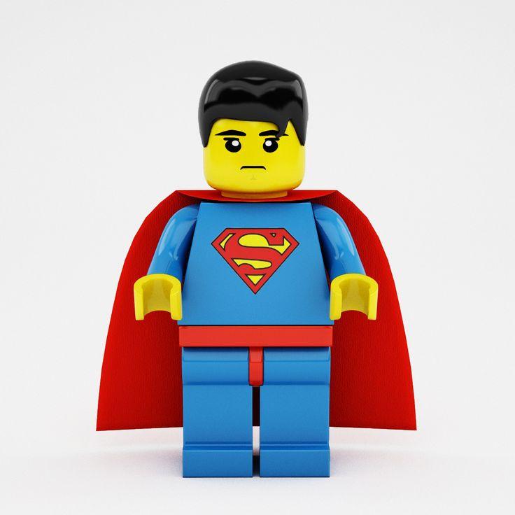 3D X Lego Superman - 3D Model