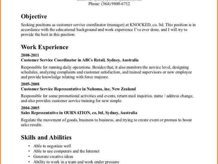 The 25+ best Sample objective for resume ideas on Pinterest - sample resume for customer service jobs