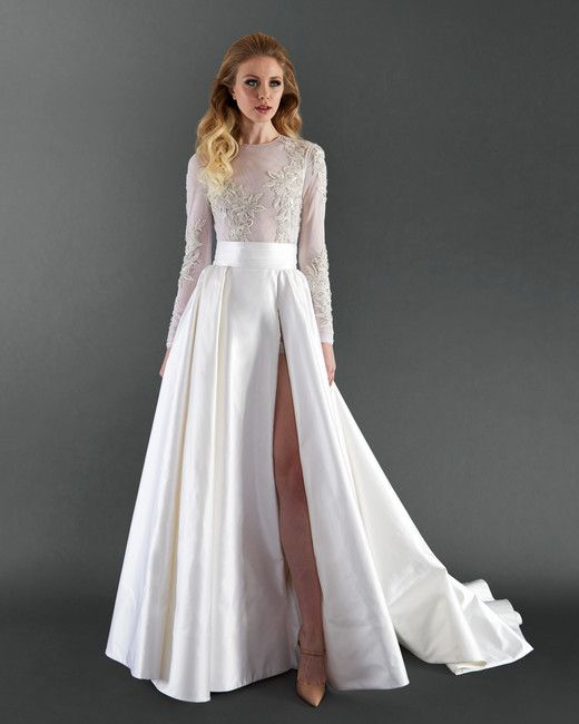 Randi Rahm Long Sleeve Wedding Dress Spring 2018