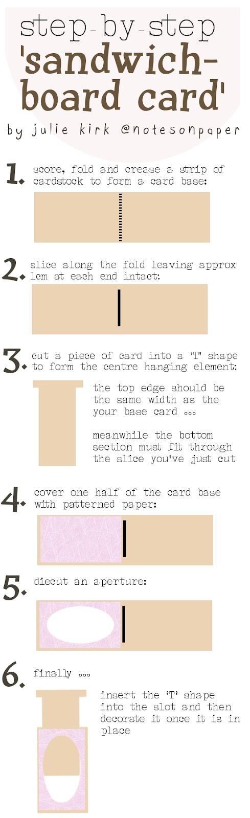 how to make a folded card in word