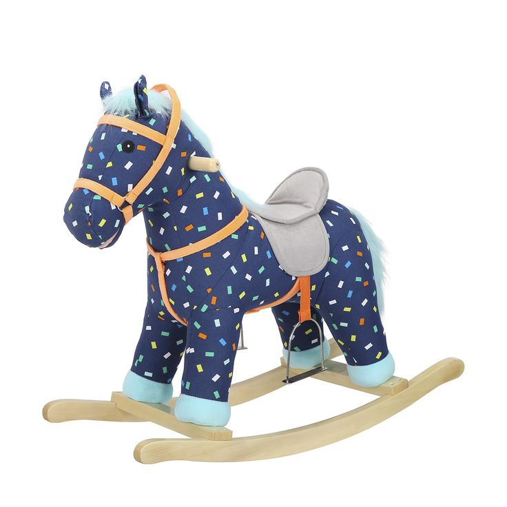 Confetti Rocking Horse Plush Pa21032