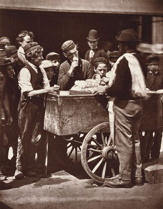 Old London ice cream cart, 1876.
