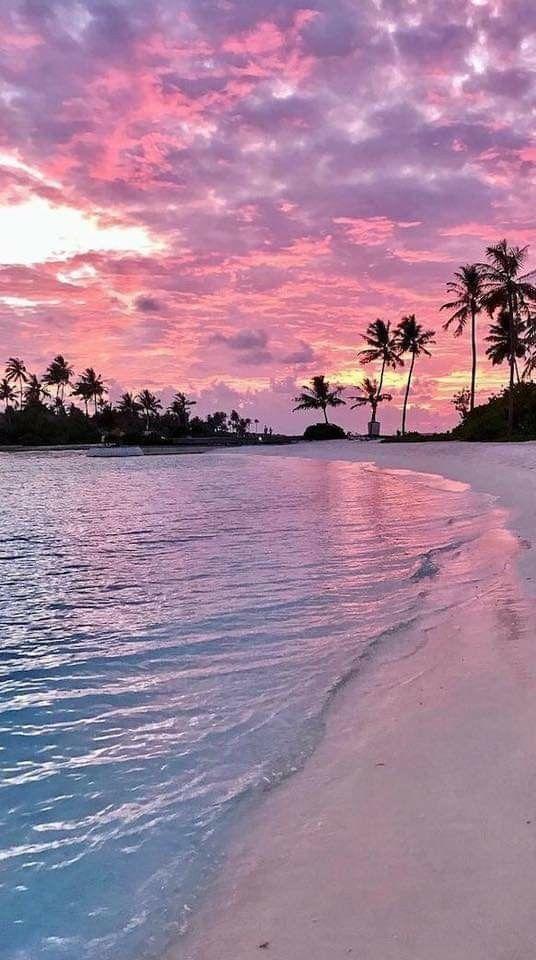 Rosa / orange / lila Sonnenuntergang sunset mit einem Schatten des Blaus 💜