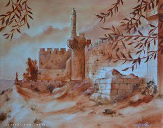 Jassar's Blog: Old Walls of Jerusalem - Oil painting