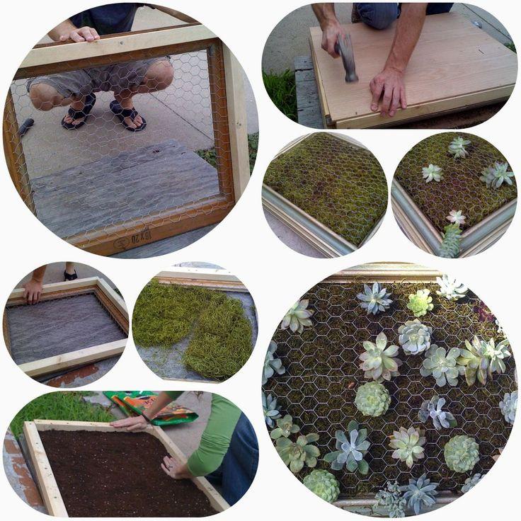 Armygurumi, amigurumis y otras cosas de la vida: Jardin vertical de cactus y suculentas: tutorial