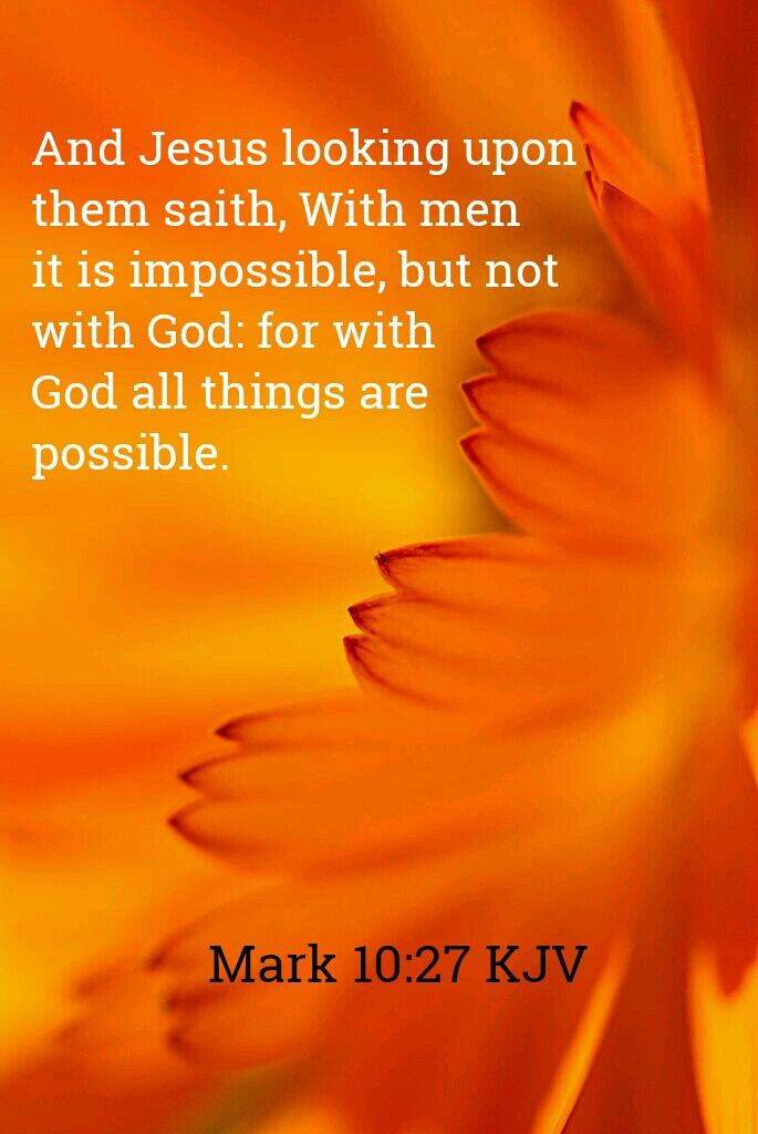Mark 10:27 KJV