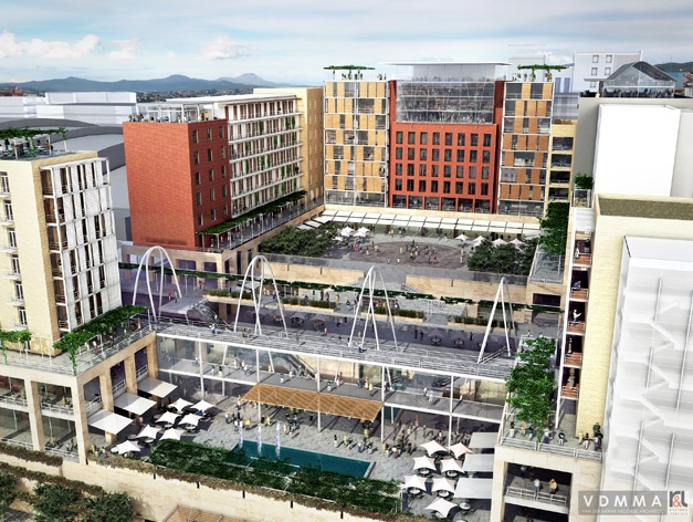 Another view of the planned Galleria precinct in Tygervalley, Cape Town.