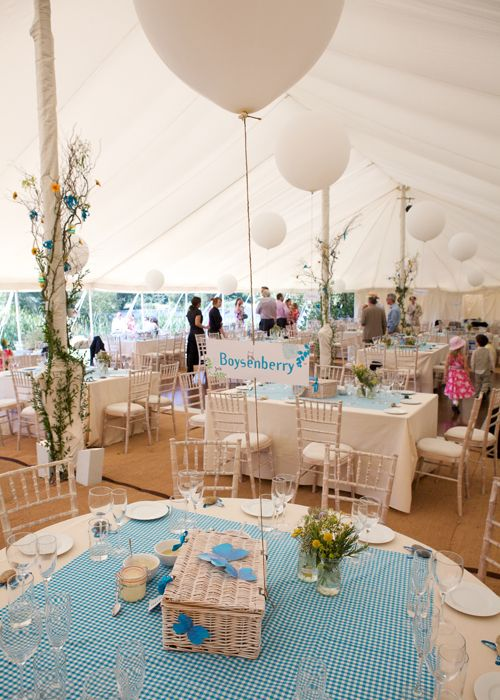 Picnic, relaxed styling at Duncton Mill wedding reception venue
