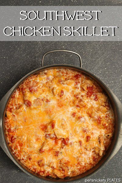 Southwest Chicken Skillet - a 30 minute meal   Persnickety Plates