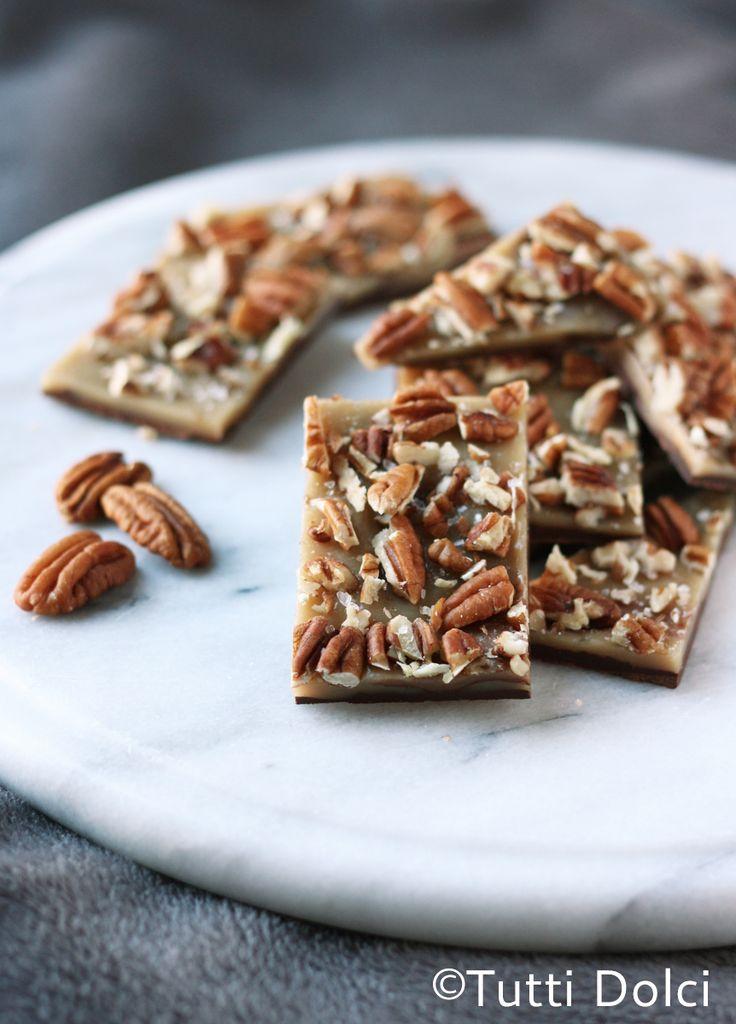 Salted Caramel-Pecan Bark   Tutti Dolci #chocolateparty
