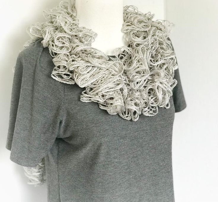 Ruffle Scarf Gift for Her Gray Sashay Scarf Womens