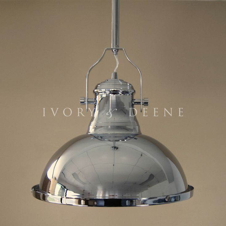 Details About LARGE PENDANT LIGHT Polished Chrome Loft