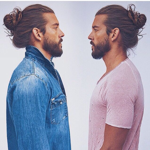 I'm totally in love with the Man bun atm!