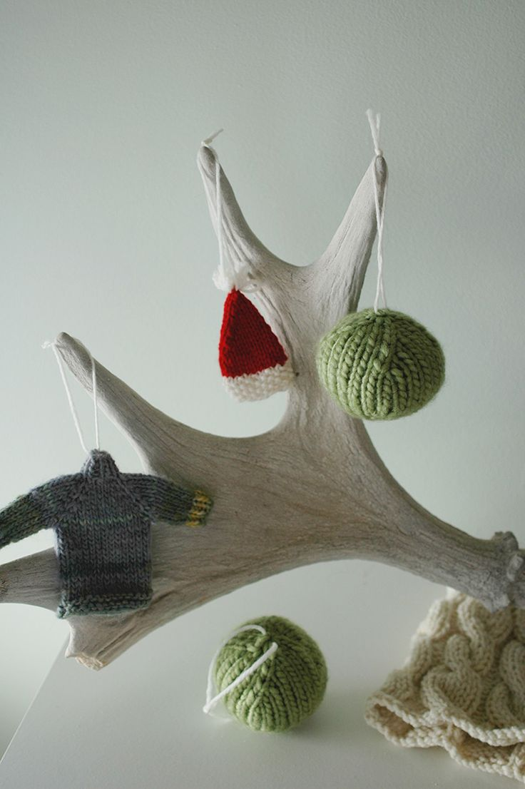 Simple Knitting Patterns Christmas Decorations : Easy Christmas ornaments - a pattern for the basic knit ball Christmas Craf...