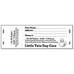 Printable Blank Raffle Tickets | Free Raffle Ticket Template for Word