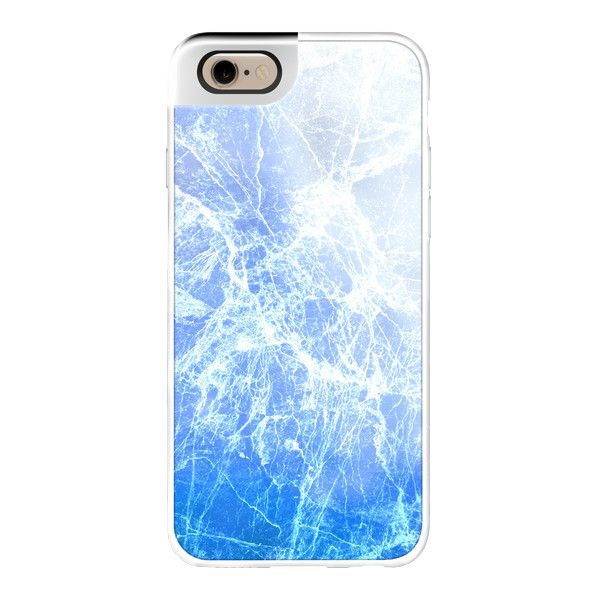 iPhone 6 Plus/6/5/5s/5c Metaluxe Case - Cool Blue Abstract Cracked Ice... ($50) ❤ liked on Polyvore featuring accessories, tech accessories, iphone case, iphone cover case, pattern iphone case, iphone cases, blue iphone case and print iphone case