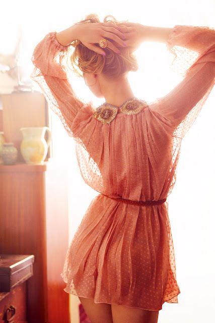 chiffon: Pink Polka Dots, Chiffon Blouses, Summer Dresses, Pink Dresses, Trav'Lin Lights, Color, Dresses Girls, The Dresses, Chiffon Dresses