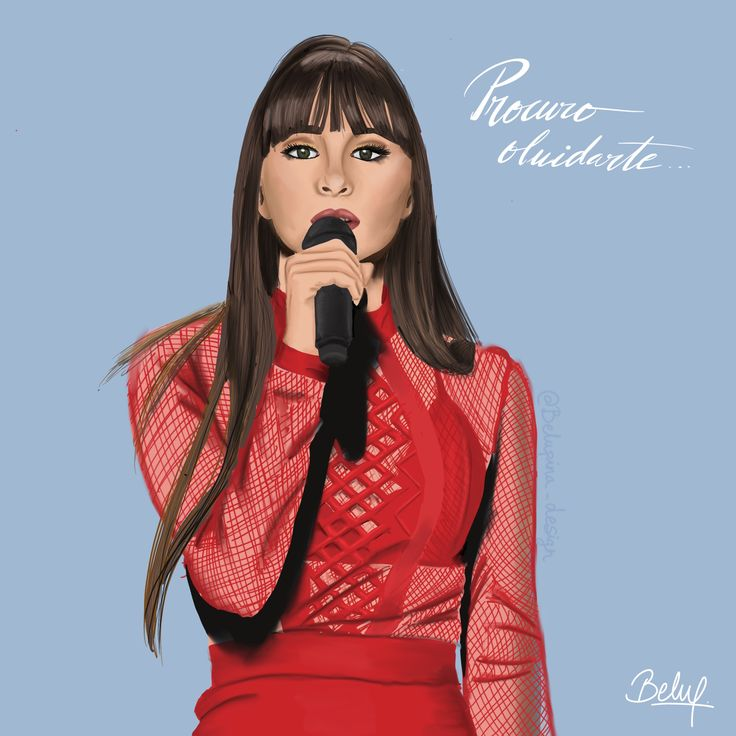 Aitana OT 2017. Dibujo con Procreate en iPadPro  #ot #aitana #illustration