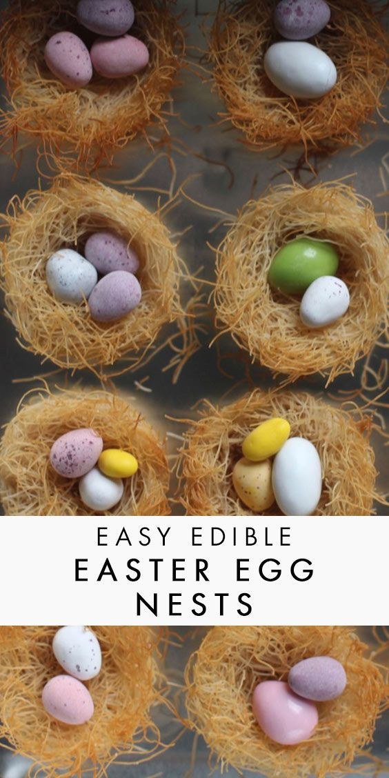 These egg nests are easy (and fun) to make with kids and they look so cute! Perfect for Easter or Spring celebrations.