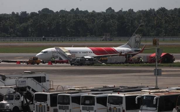Narrow escape for 108 as Air India Express aircraft skids off taxiway in Kochi - The Hindu #757Live