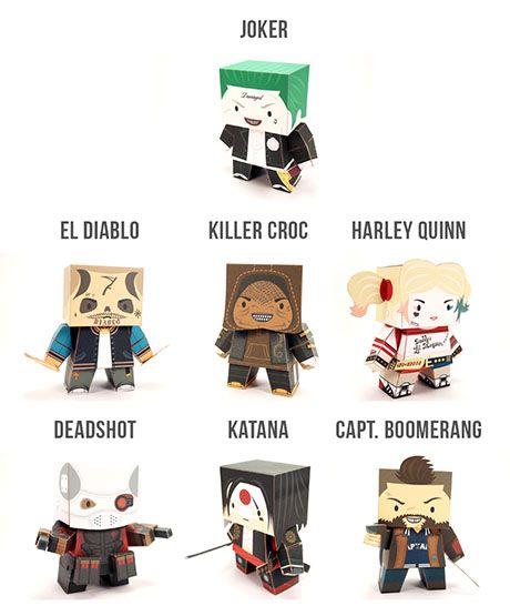 Paperized: Suicide Squad Paper Toys