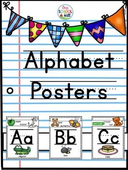 These fun and engaging alphabet posters will help decorate any space while…