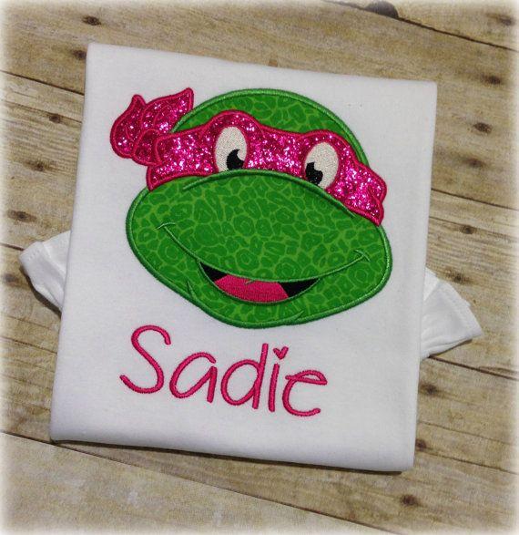 Glitter Face Mask Girl Ninja Turtle  Machine by AmeliaBeaudillia, $23.50