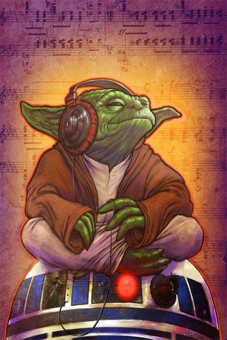 Master Yoda getting in touch with his inner rhythm.