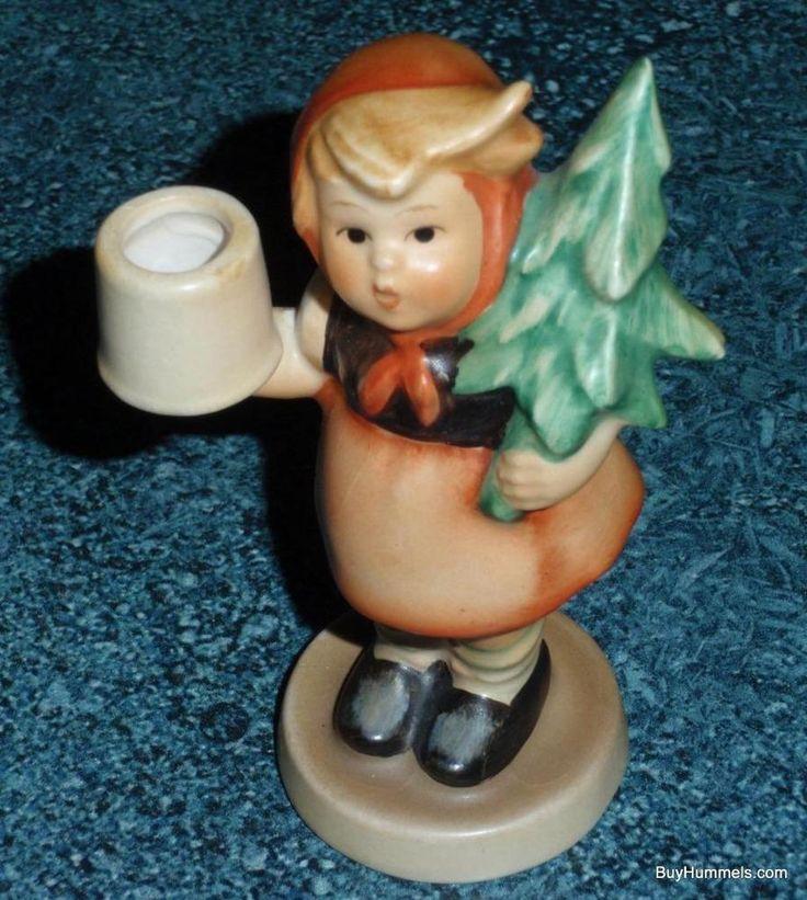 CUTE Advent Girl With Fir Tree Hummel Figurine TMK3 Lot #2 - $0.99 Starting Bid!
