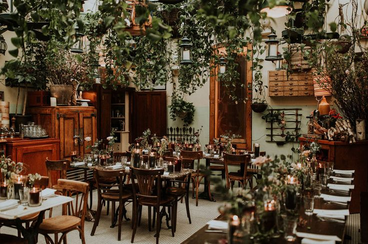 Intimate French Cafe Wedding