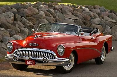1953 Red Skylark convertible..Re-pin Brought to you by Ins. agents at #HouseofInsurance in #EugeneOregon for #AutoInsurance