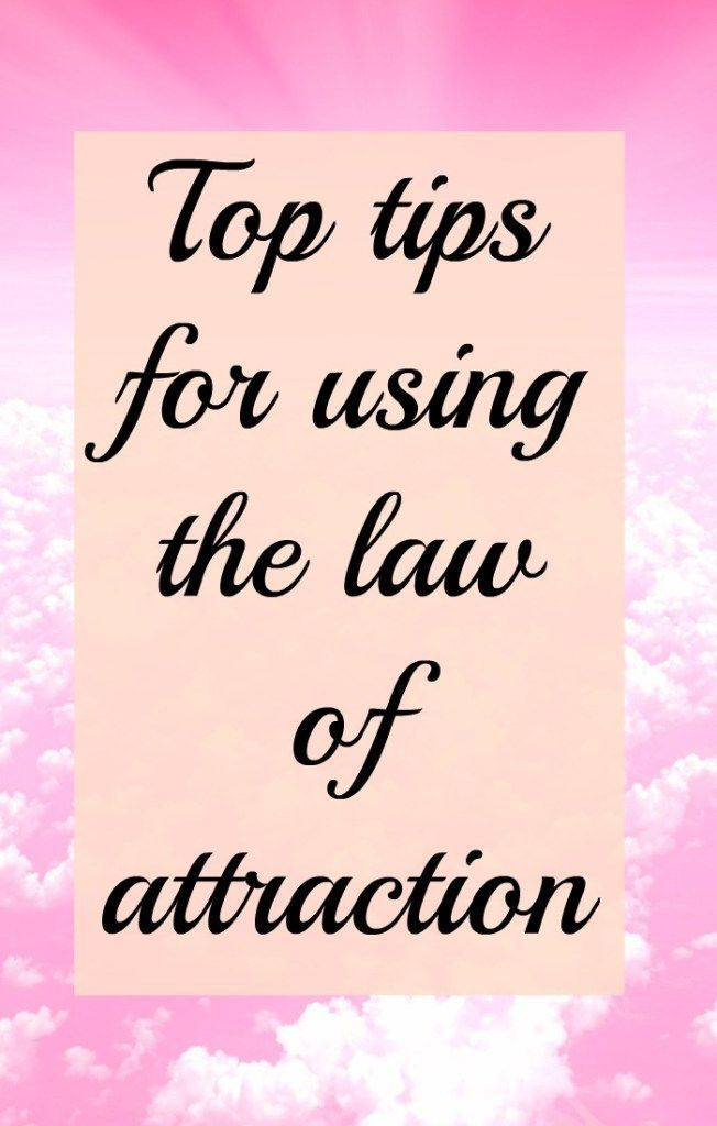 A huge list of my top law of attraction tips to manifest the life you want