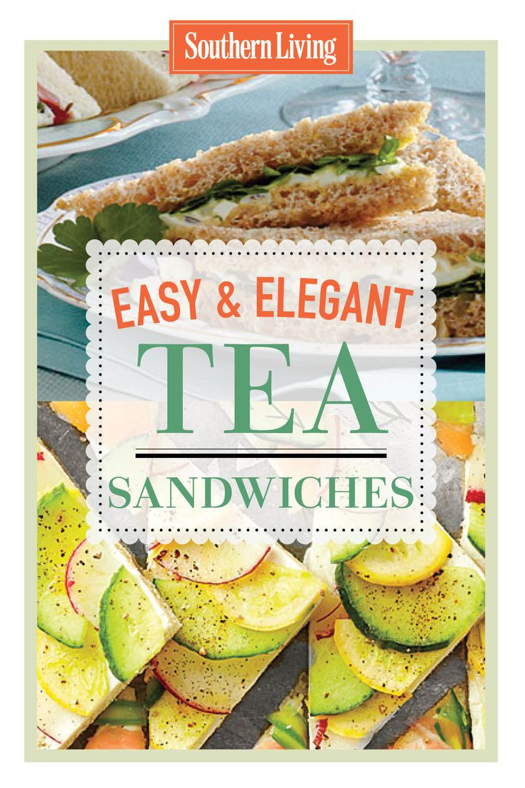 The tea sandwich is a quintissential finger food for luncheons and parties. Try these charming and delicious treats for your next get together.