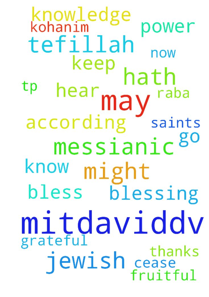 MitDavidDv: A Messianic Jewish Tefillah tp 10/01 -  MitDavidDv A Messianic Jewish Tefillah Shalom Chaverim Toda raba for all of those of you that continue to intercede for me through this website. I am truly grateful to all of you that go before Yeshua HaMoshiach on my behalf. I have created this prayer request that I would like for you to use when interceding for me. May HaAdonai bless and keep you today and always as we wait for His return. A Messianic Jewish Tefillah The Birkat Kohanim…