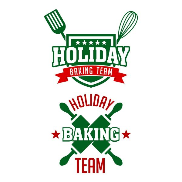 baking team holiday cuttable design