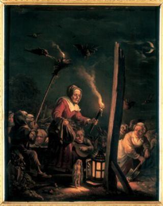 David Teniers II - Witch under gallows