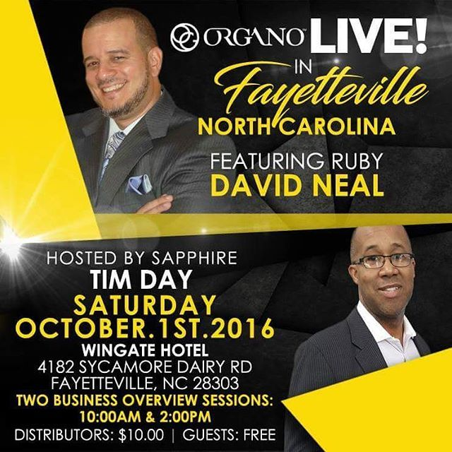 zpr FAYETTEVILLE, NC!!! The Health and Wellness economic game changer is coming to Fayetteville, NC!!! I have a few complimentary VIP tickets available. Inbox me for details.  #Money  #MLM  #Business  #entrepreneur #womeninbusiness  #meninbusiness  #ecommerce  #retail #sales  #coffee  #tea  #directsales  #residual  #money #millionaire  #wealth  #health  #organo  #weareorgano #shaketheworld  #onlineshopping  #mentorship #OGShakesuptheworld  #buildingfarrar  #freedom  #DM  for more info and…