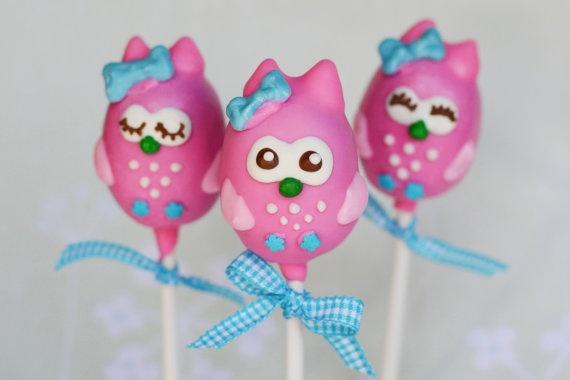 Owl Cake Pops For Baby Shower