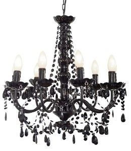 I would really like a pretty chandelier like this one or even a rose pink for above my bathtub!!