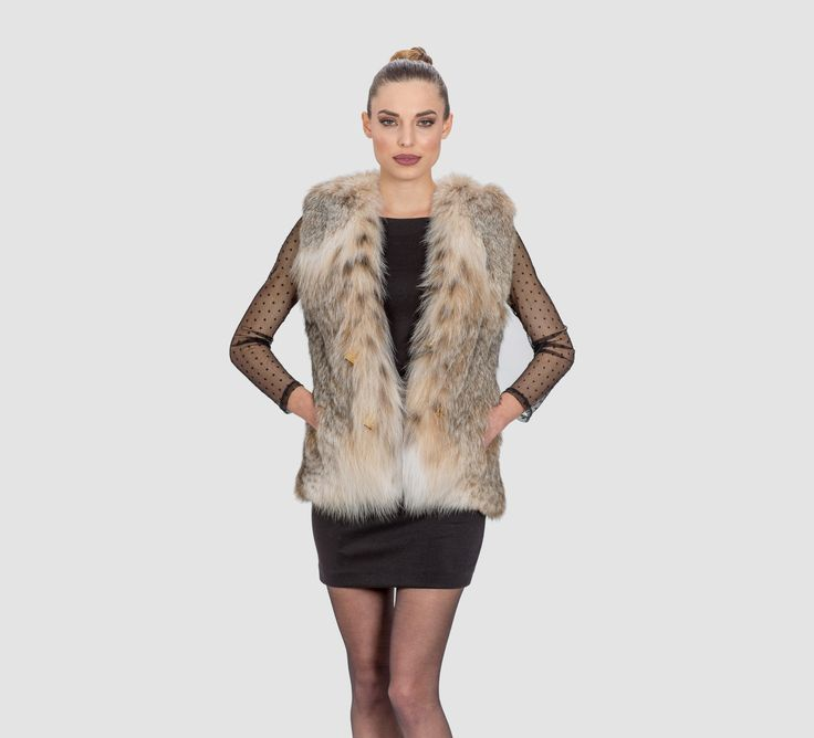 Canadian Lynx Short Vest    #canadian #lynx #fur #vest #classy #elegant#luxury #fur #coat #lynx #design #dress #style #fashion #mexa #furgilet