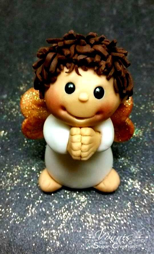 Christmas Angel Figure Polymer Clay Praying Weihnachten Figur Fondant Fimo  Betender Engel
