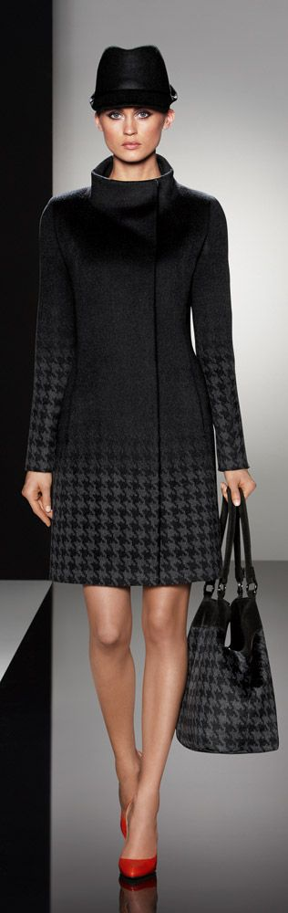 """Find out where DeVa wore this houndstooth, umbra Cinzia Rocca coat. Read """"BOB"""" at: ndnyurlife.com"""