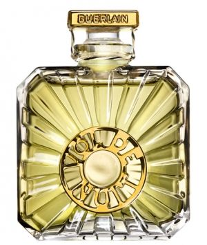 "Vol de Nuit Guerlain for women est 1933 ""Night Flying""  Supposed to feel like ascending, speed, darkness... bottle looks like a propeller"