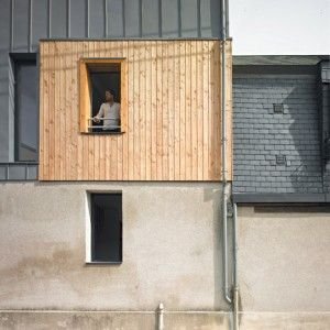 Atelier 100architecture slots contemporary  house into French medieval city centre