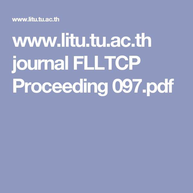 www.litu.tu.ac.th journal FLLTCP Proceeding 097.pdf