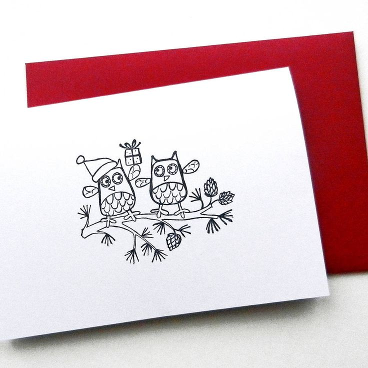 pack of hand printed owl christmas cards by ruth green design | notonthehighstreet.com