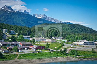 Choose a wall mural  alaska, america, glacier - beautiful view of haines city near glacier bay, alaska, usa. PIXERS wall murals made of great fabrics. Choose artistic photos from our catalog.