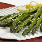 Parmesan Asparagus Sauté asparagus in olive oil over medium heat in skillet 7-10 minutes until dark green and soft. Set on paper towel, sprinkle with parmesan.